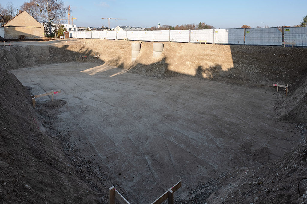 Baustellenansicht Feinabsteckung Gleißnerstraße