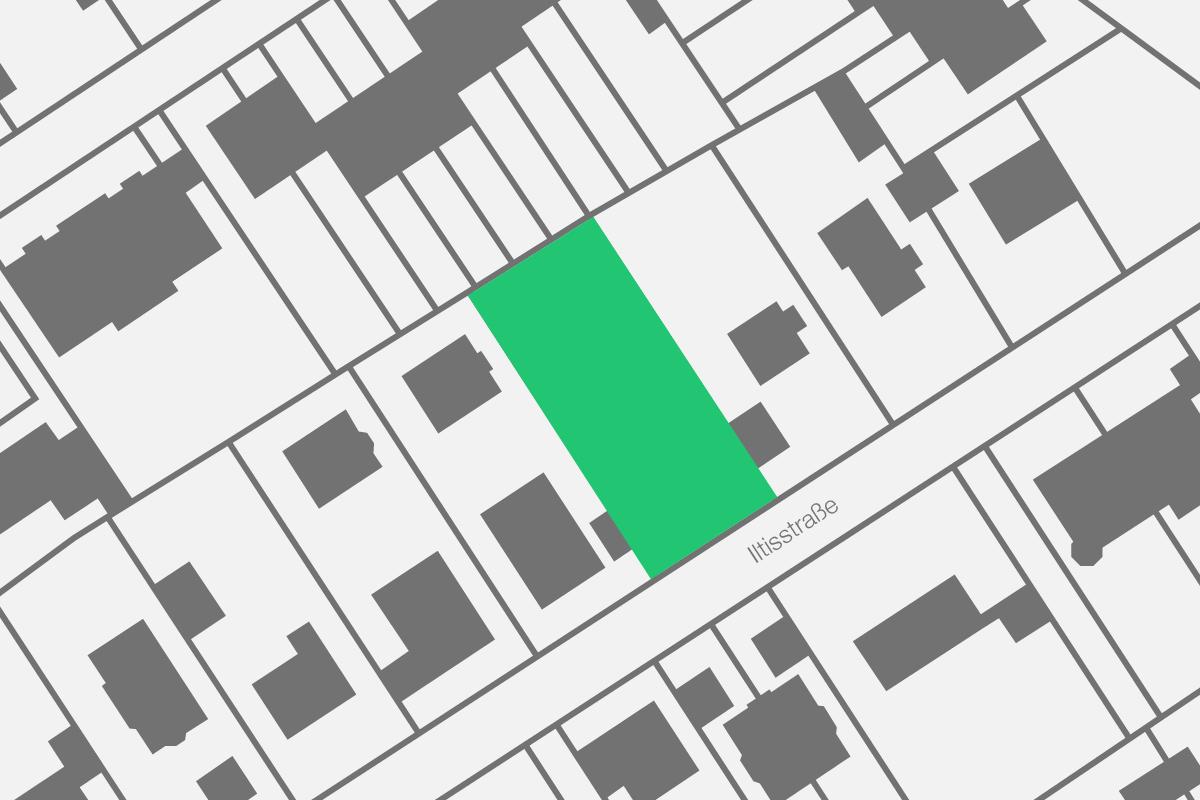 3BAU-Neubau-Lageplan-Iltisstrasse-Waldtrudering-Muenchen